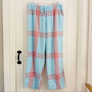 VICTORIA'S SECRET Blue Plaid PJ Lounge Pants